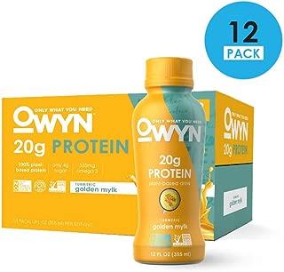 OWYN, Vegan Protein Shake, Turmeric Golden Mylk,12 Fl Oz (12 Pack)