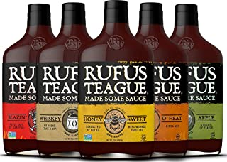 Rufus Teague: BBQ Sauce - 16oz Bottles - Premium BBQ Sauce - Natural Ingredients - Award Winning Flavors - Thick & Rich Sauce - Gluten-Free, Kosher, Non-GMO