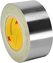 3M 3380 Silver Aluminum Foil Tape - 3 in. x 180 ft. Heat Reflective, Single Coated, Acrylic Adhesive with Liner