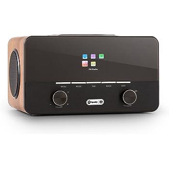 auna Connect 150 Black/Walnut, 2.1 Internet Radio, Wi-Fi Music Player, MP3 USB Port, AUX, Remote Control, Walnut