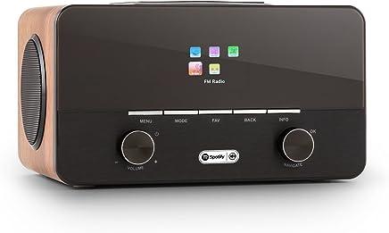 auna • Connect 150 WN • 2.1-radio internet • radio digitale • radio WLAN • Network player • Wi-Fi • LAN • connessione spotify • DAB/DAB+ / sintonizzatore UKW con RDS• Porta USB-MP3 • nocciola