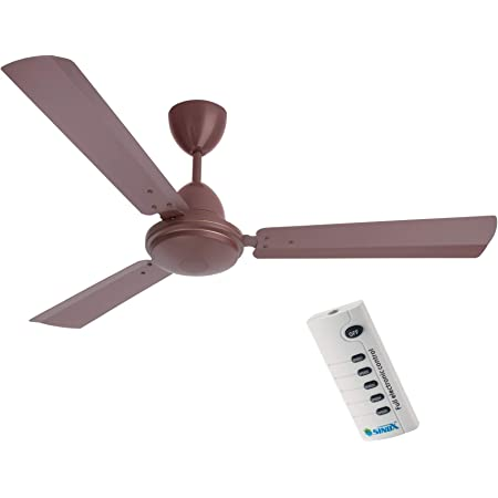 SINOX 12V DC BLDC Ceiling Fan 32 Watt with Remote Control (METT Brown)