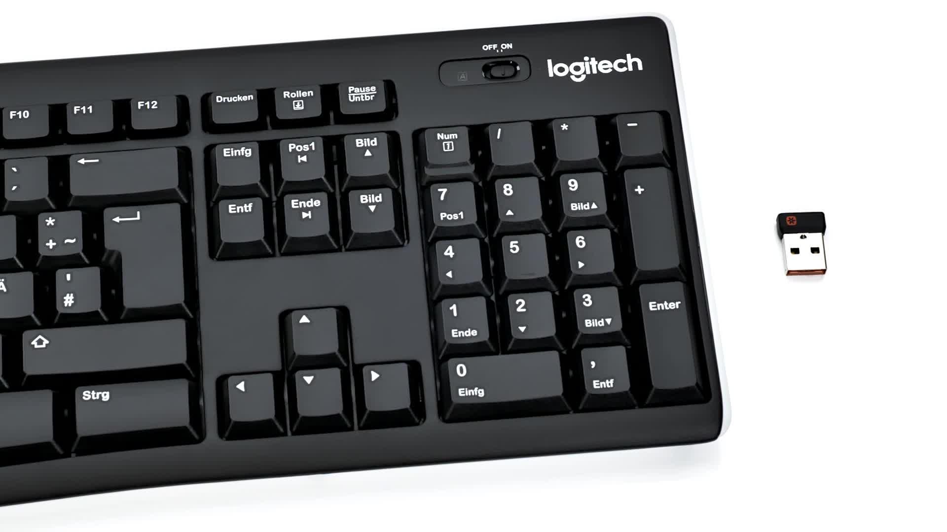 Logitech K270 Teclado Inalámbrico para Windows, Disposición QWERTZ Alemán, Negro