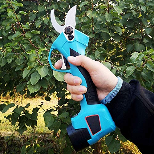 NFY Cordless Pruning Shear with 16.8V Rechargeable Two Battery Garden Scissors Tool for Rose Fruit Tree Garden