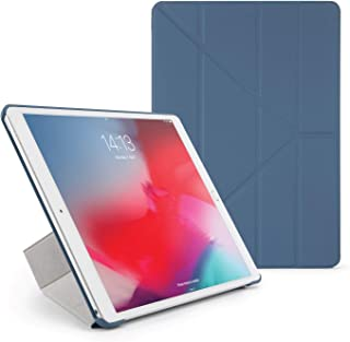 Pipetto Origami iPad Case Air 10.5 inch (2019) & Pro 10.5 inch (2017) with 5 in 1 Stand & auto Sleep/Wake Function Navy