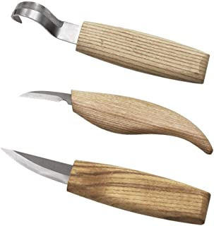 Wood Carving Kit - Multi-Knife Set with Hook Knife, Detail Knife and Whittling Knife for Wood Carving Projects,Wood for Sp...