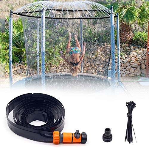Landrip Trampoline Sprinkler, Trampoline Water Sprinkler for Kids, Sprinkler for Trampoline Water Fun Game Toys (39.3FT, Upgrade)