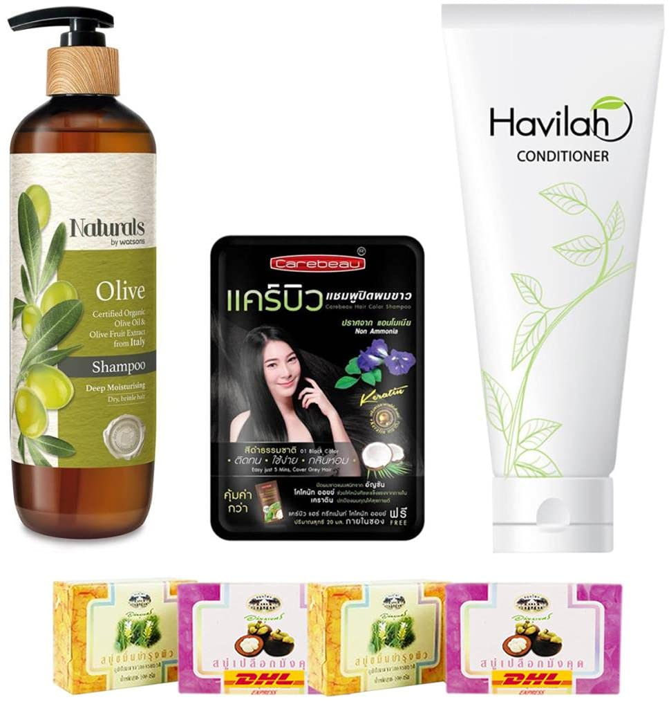 Popular products Set A03 Natural by Max 61% OFF Watsons Olive 490ml Havilah Co Shampoo Herbal