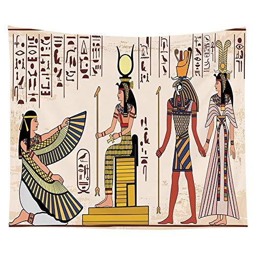 Tapiz del faraón egipcio antiguo pintura famosa colgante de pared pirámide pirámide estera de yoga toalla de playa tapiz egipcio a17 150x200cm