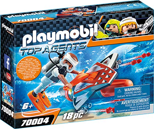 Playmobil 70004 Top Agents Spy Team Underwater Wing, kleurrijk