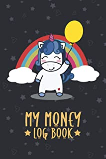 My Money Log Book: savings account register book for kids, 5 Column Ledger, Money Education For Kids (Cute Unicorn Themed ...