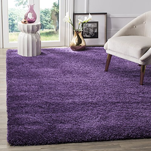 Safavieh Milan Shag Collection SG180-7373 Purple Area Rug (8' x 10')
