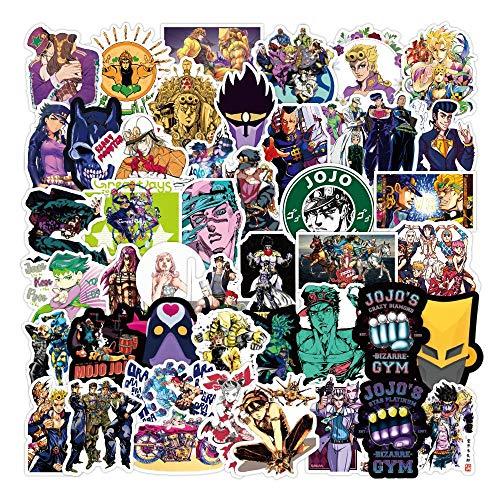 BUCUO Anime Wonderful Adventure Graffiti Pegatina Equipaje Ordenador Pegatina Personalizada Impermeable 100 Uds
