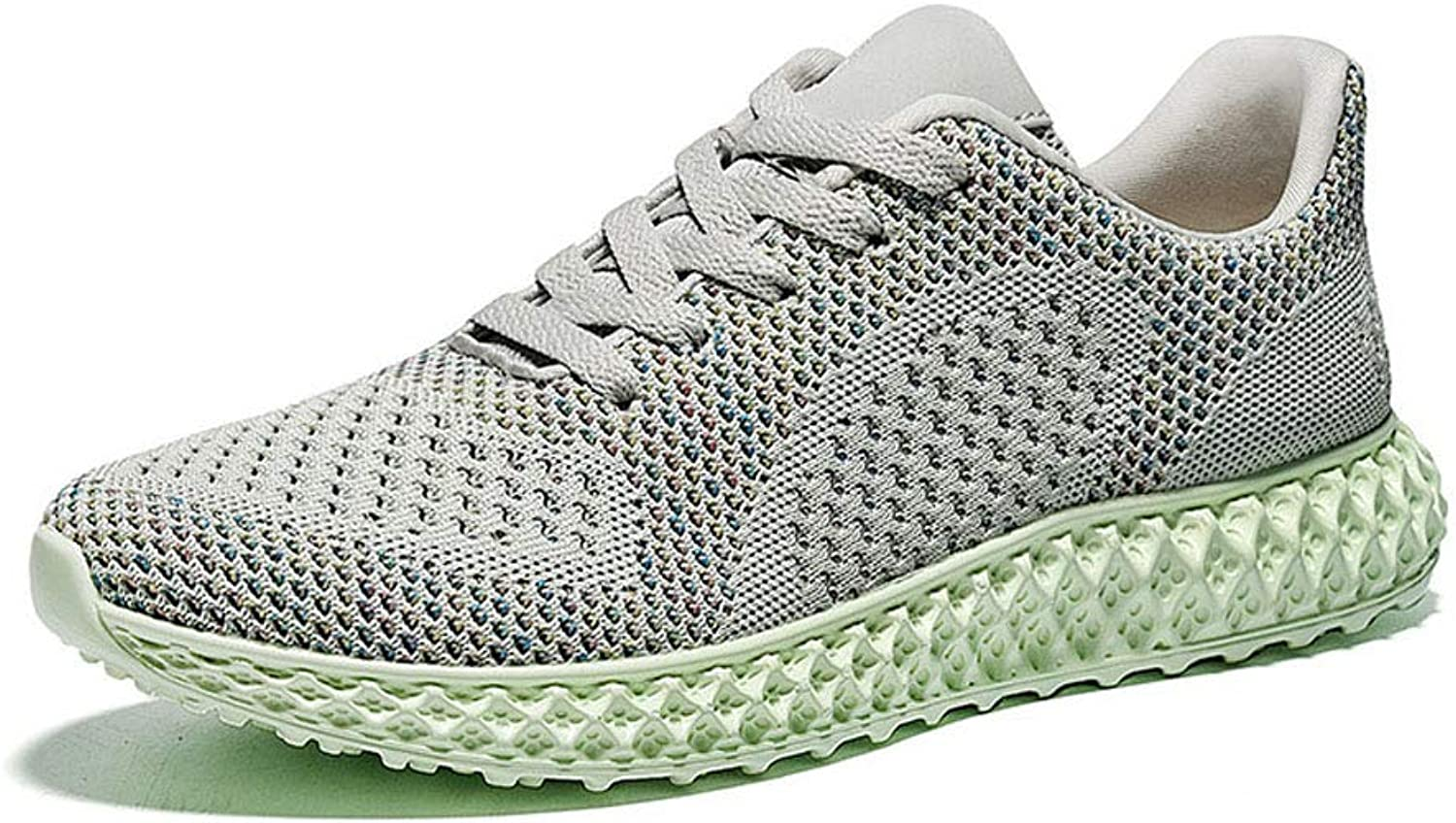 FFSH Sports shoes Fly Woven lace Casual shoes Breathable Sports Fitness Running shoes-grey-41