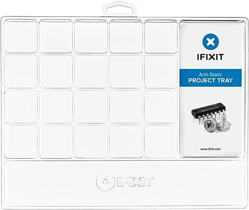 iFixit Anti-Static Project Tray, plateau de triage antistatique, plateau de rangement pour vis, composants, outils, p...