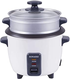 Sonashi 2.8 Liters Rice Cooker with Food Steamer SRC-328