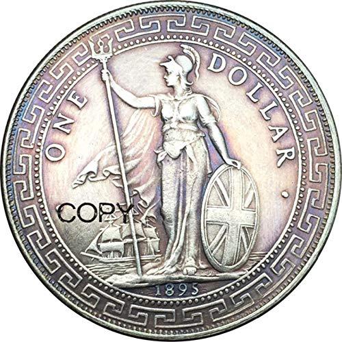 Eeng British Trade One Dollar 1895 Hong Kong Yi Yuan Copy Commemorative Coins