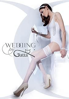 Gatta Wedding Bella Donna 02 - elegante halterlose Strümpfe Hochzeitsstrümpfe