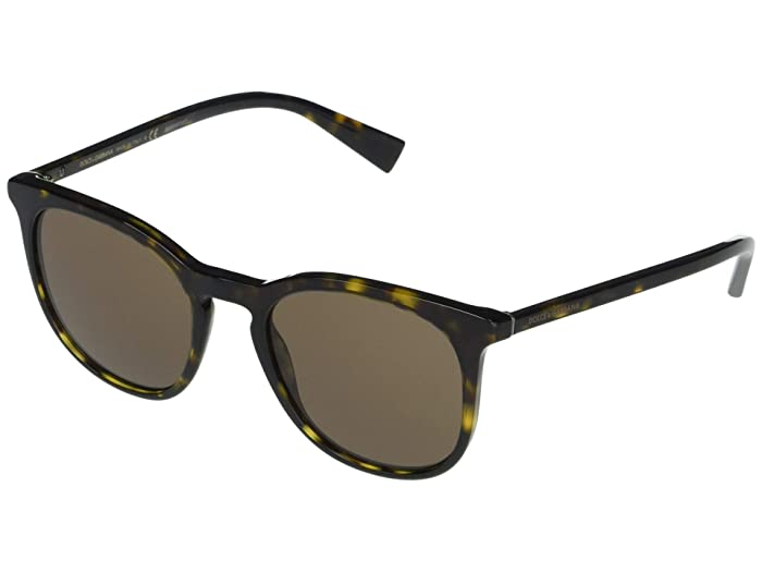Dolce and Gabbana  DG4372 (Havana/Brown) Fashion Sunglasses