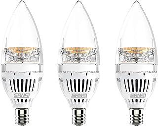 SANSI Bombillas Vela de Filamento Flame LED E14 (Casquillo Fino) - 6W equivalente a 60W, 650 lúmenes, Color blanco cálido 2700K. Bombilla retro vintage, No regulable - Pack de 3 Unidades.