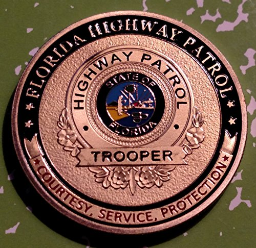 Florida State Highway Patrol Trooper Police Challenge Art Coin