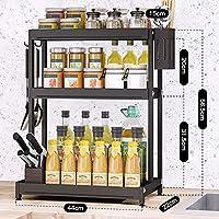 キッチンシェルフオーガナイザーラック、カウンタートップ用のスパイスラックオーガナイザー、カトラリーやフォーク用の収納ラックを備えたステンレス製の耐食性キッチンラック,Package 11