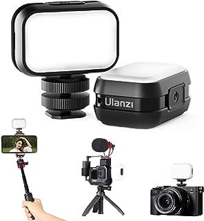 Mini Vlogging Light, 4 Levels Brightness 6500K CRI 95+, ULANZI Rechargeable LED Video Light for GoPro Hero 9 8 Max 7 6 5 B...