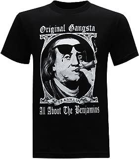 Original Gangster Benjamin Franklin Founding Fathers Men's Humor Funny T-Shirt