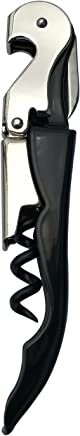 INMAKER Waiters Corkscrew Wine Opener Waiter Corkscrew Great Value for Beer and Wine Black and Silver - 1 Piece