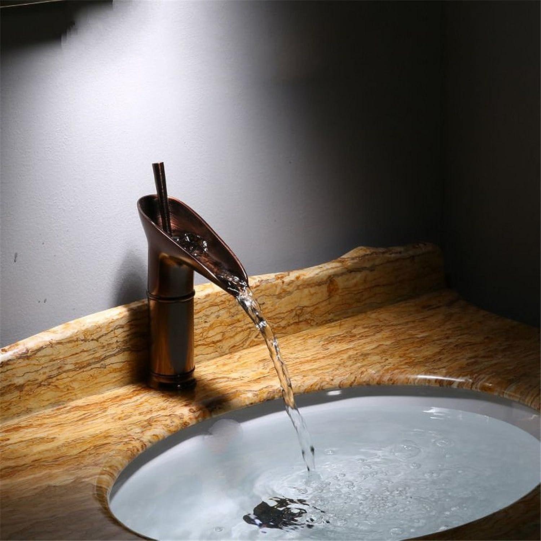 ETERNAL QUALITY Bad Waschbecken Wasserhahn Küche Waschbecken Wasserhahn Heier Und Kalter Wasserfall Des Kupfernen Beckens Waschtischmischer BQ1081ca