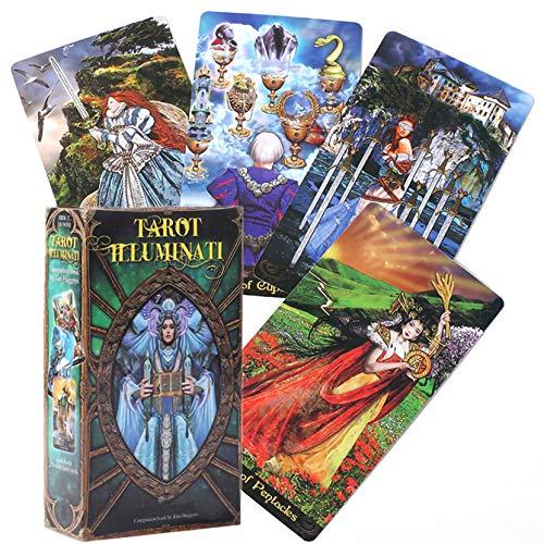 LPWCAWL Tarot Illuminati, Horoskop Vorhersage Tarotkarten, Brettspiel Karte für Erwachsene und Kinder, 78 Karten, Englische Version