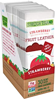 Stretch Island Original Fruit Leather, Strawberry, 0.5 Ounce Leathers, 30 Count