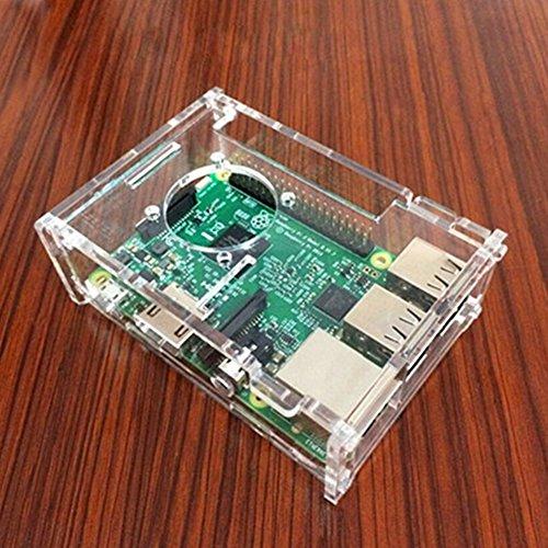 Preisvergleich Produktbild Raspberry Pi Gehäuse mit Lüfter und Schraube für Raspberry Pi 3 B + 2 Generation Raspberry Pi,  transparent