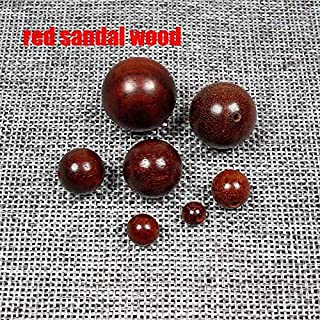 20pcs/lot Round Natural Wood Beads 6-20mm Sandalwood/Rosewood/Padauk Wooden Spacer Beads DIY Jewelry Making Finding