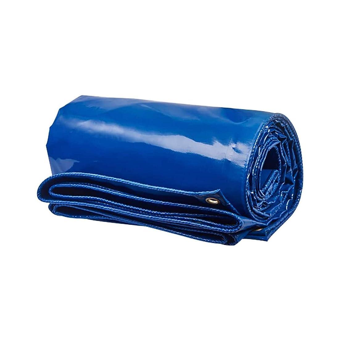 アシュリータファーマンレジ乱雑な防水シート グロメットと補強されたエッジを備えた青い防水シート、頑丈な防水シート防水紫外線耐性引裂き防止3M×4M20ミル6.6Kg