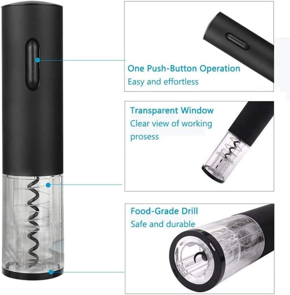 YSYPET USB Oplaadbare wijnflesopener ZILVER Zwart