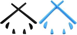 HKUCO Blue/Black Replacement Silicone Leg Set For Oakley Romeo 2.0 Sunglasses Earsocks Rubber Kit