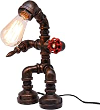 Benedict Vintage industriële tafellamp, steampunk robot bureaulamp, retro waterpijp bureaulamp/vintage industriële tafella...