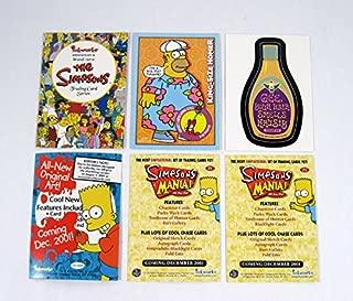 2001 Inkworks Simpsons Mania! Promo Card Set (3) Nm/Mt