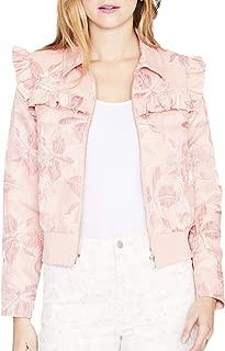 Womens Spring Ruffled Bomber Jacket