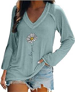 Long Sleeve Shirt Women's Sweatshirt Long Sleeve Loose Pullover Skull Print Tops Women Autumn Graphic Tee Shirts Elegant ...