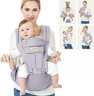 Viedouce Babytrage Ergonomische mit Hüftsitz/Reine Baumwolle Leicht und atmungsaktiv/Multiposition:Dorsal, Ventral, Einstellbar für Neugeborene und Kleinkinder von 0 bis 4 Jahren 3,5 bis 20 kg