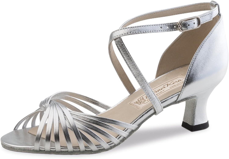 Werner Kern - Damen Tanzschuhe Mary 5,5 - - Chevro Silber - 5,5 cm - Made in   billiger Laden