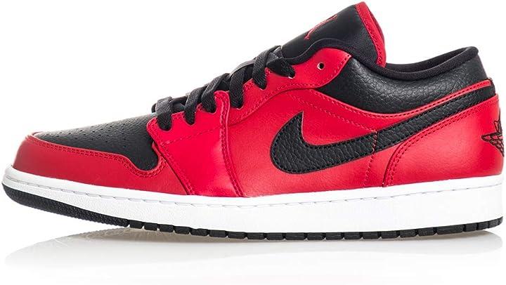 Scarpe nike air jordan 1 low, scarpe da basket uomo 553558-605