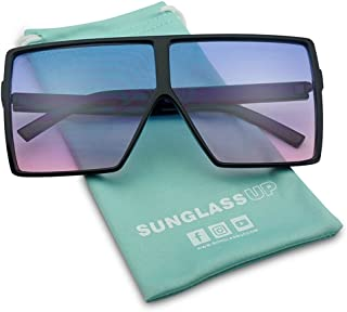 53e1e757c3 Big XL Large Oversized Super Flat Top Square Two Tone Color Fashion  Sunglasses