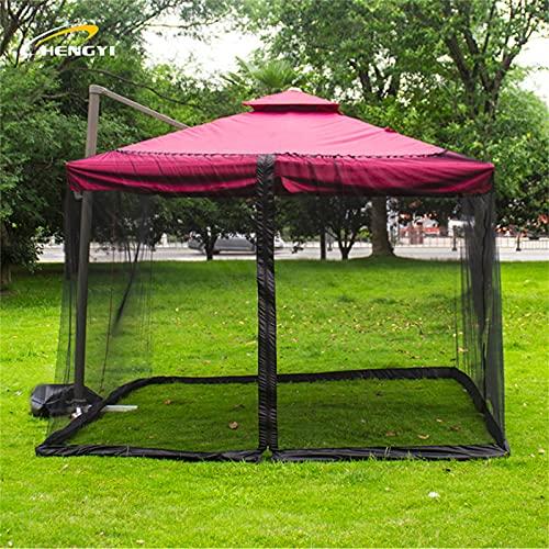JTKJ Mosquitero exterior para patio y exteriores, sin mosquitos, instalación sin mosquitos, solo mosquitero, color negro, 300 x 300 x 230 cm