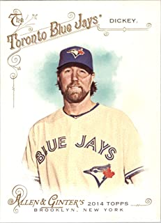 2014 Allen and Ginter #300 R.A. Dickey Toronto Blue Jays