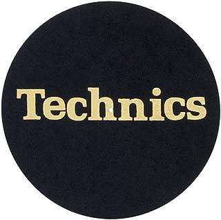 Technics - Alfombrillas para bicicleta, color negro y dorado