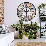 Único Reloj de pared gigante de metal XXL con diseño antiguo (Ø 80cm de diámetro) de números romanos. Retro hogar Reloj Cocina pared Vintage