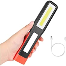 Work Inspection Light LED Flashlight USB Charging Lantern rotatable Hook Magnetic Flashlight for Camper Maintenance and Re...